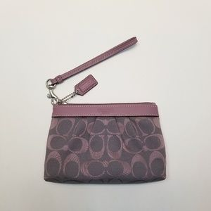 Pastel Purple Coach Coin Wristlet